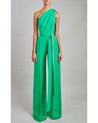 Elie Saab Crepe Jumpsuit - Green