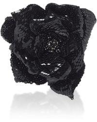 Balmain - Sequins Flower Brooch - Lyst