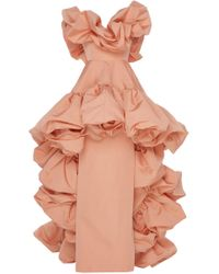 Christian Siriano - Sculpted Off-the-shoulder Gown - Lyst