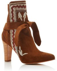 Ulla Johnson Embroidered Aggie Boot - Brown