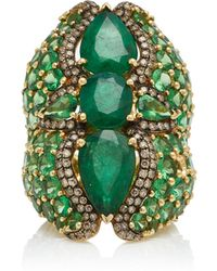 Wendy Yue - 18k Gold Multi-stone Ring - Lyst