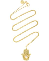 Amrapali - Kundan Vintage Diamond And 18k Gold Hamsa Pendant Necklace - Lyst