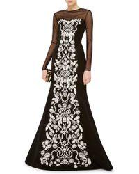Oscar de la Renta Long Sleeve Bodysuit - Black