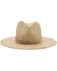 Janessa Leone Leigh Straw Hat - Natural