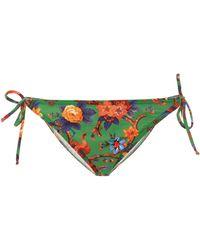 LaDoubleJ - Floral-print Bikini Bottoms - Lyst