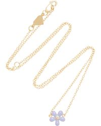 Alison Lou - 14k Gold And Diamond Wildflower Necklace - Lyst