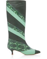 Tibi Hart Boots - Green
