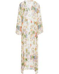 VERANDAH - Classic Boho Modal Chiffon Luxe Kimono - Lyst