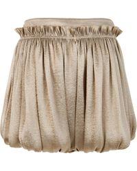 Genny - Satin Bubble Shorts - Lyst