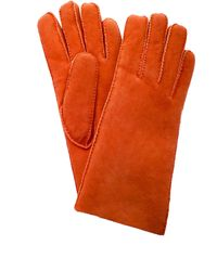 Maison Fabre Short Shearling Cuff Gloves - Orange