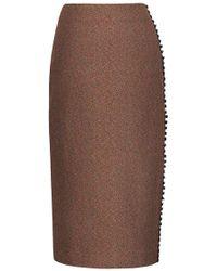 Bevza - Button Detail Pencil Skirt - Lyst