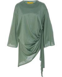 Pyer Moss - Curtain-draped Cotton Blouse - Lyst