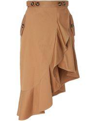 Self-Portrait - Ruffled Asymmetric Skirt - Lyst