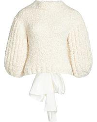 Cecilie Bahnsen Leila Open-back Knit-silk Top - White