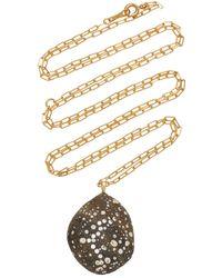 CVC Stones Sway 18k Gold, Diamond And Stone Necklace - Metallic