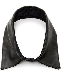 Fleur du Mal Leather Collar - Black