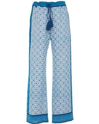 Talitha Printed Pajama Pants - Blue