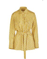 Giuliva Heritage Collection The Aurora Shirt Printed Linen - Yellow