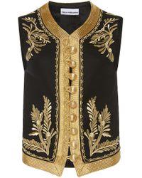 Paco Rabanne Embroidered Jacquard Vest - Black