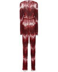 Naeem Khan - Sequin Embellished Jumpsuit - Lyst