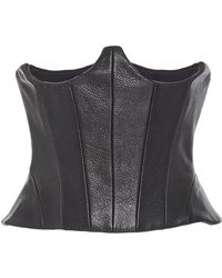 Sally Lapointe - Leather Corset - Lyst