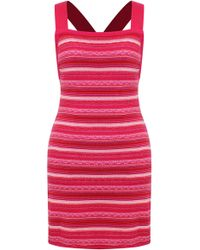 All Things Mochi Caline Cotton Mini Dress - Red