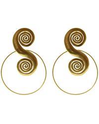 CANO Tolu 24k Gold-plated Earrings - Metallic