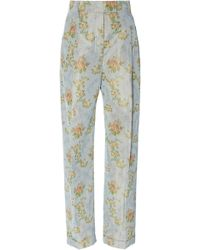 Brock Collection - Omar Floral Straight Leg Pant - Lyst