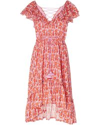 Figue Tahlia Printed Cotton-voile Dress - Red