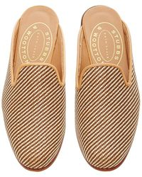Stubbs & Wootton - Straw Natural Mule - Lyst