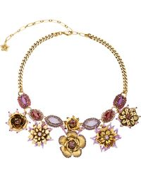 Erickson Beamon | 24k Gold-plated Vermeil Swarovski Crystal And Pearl Necklace | Lyst