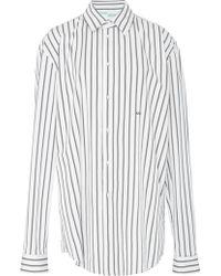 Off-White c/o Virgil Abloh - Striped Cotton-poplin Shirt - Lyst
