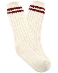 The Elder Statesman - M'o Exclusive Yosemite Ribbed Tube Socks - Lyst