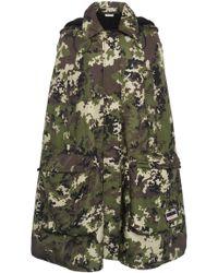 Miu Miu Hooded Camouflage Cape - Multicolor