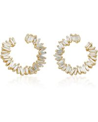 Suzanne Kalan - Spiral 18k Gold Diamond Earrings - Lyst