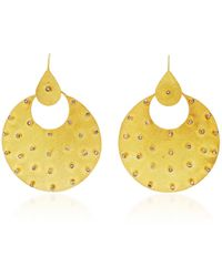 Sanjay Kasliwal | Round Gold And Diamonds Earrings | Lyst