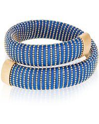 Carolina Bucci Cobalt Caro Gold-plated Bracelet - Blue