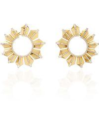 Nikos Koulis - Fame Gold Hoop Earrings - Lyst
