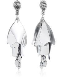 Oscar de la Renta | Impatiens Large Drop Earrings | Lyst