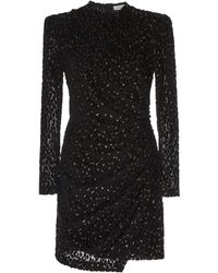 A.L.C. Jane Ruched Velvet Mini Dress - Black