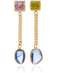 Objet-a 18k Gold Multi-stone Earrings - Multicolor