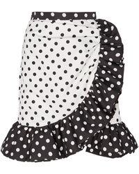Rodarte Ruffled Polka Dot Knee-length Skirt - Black
