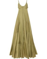 Jacquemus La Robe Manosque Tiered Twill Maxi Dress - Green