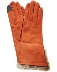 Maison Fabre Lambskin Fur Cuff Gloves - Brown
