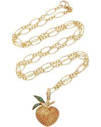 Khai Khai - 18k Gold, Sapphire, Diamond, And Tsavorite Charm - Lyst