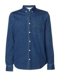 Acne Studios Isherwood Cotton-chambray Shirt - Blue