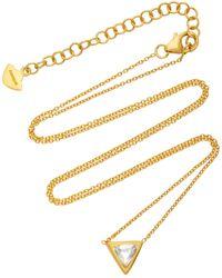 Amrapali Kundan Vintage Diamond And 18k Gold Triangle Pendant Necklace - Metallic