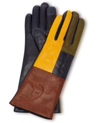 Maison Fabre - Element Colour Block Leather Gloves - Lyst