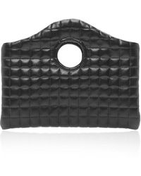 A.W.A.K.E. MODE Anouk Mini Quilted Leather-effect Bag - Black