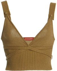 Altuzarra - Briallen Cashmere-cotton Knit Top - Lyst